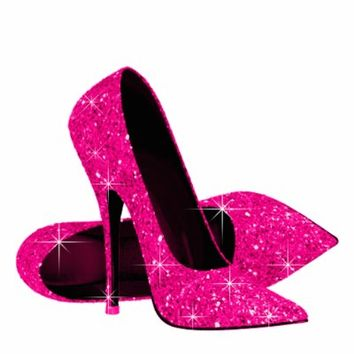 Hot Pink High Heel Shoes - Qu Heel