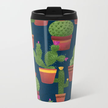 Terra Cotta Cacti Metal Travel Mug by Noonday Design