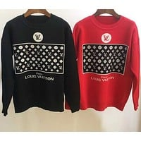 LV Knitted sweater with round collar