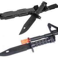 TACTICAL CA-07 DUMMY M9 BAYONET FOR M4-M16 AIRSOFT RIFLES