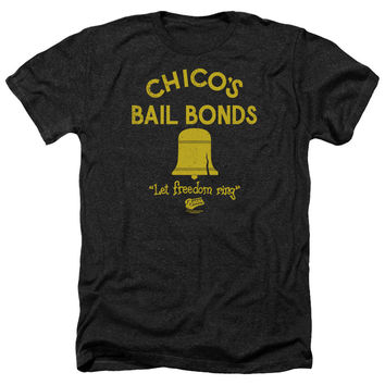 The Bad News Bears Chico's Bail Bonds Black Heathered Duo-Blend T-Shirt
