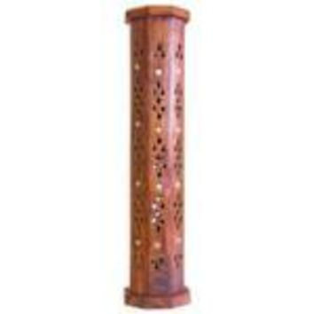 Wooden Tower Coffin Box Incense Burner