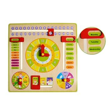 Baby Wooden Toy Children Learning Developmental Versatile Flap Abacus Wood Clock Kids Intelligence Educational Toy Gift