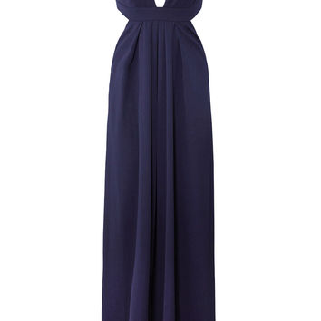 Jill Jill Stuart Violet Cross Back Gown