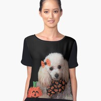 'Halloween Toy Poodle ' Women's Chiffon Top by ritmoboxers