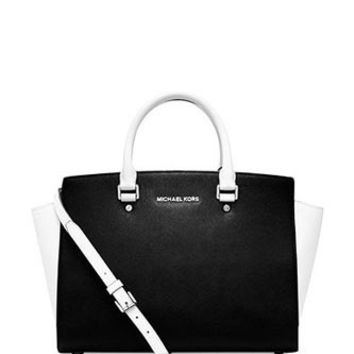 Michael Michael Kors Large Selma Colorblock Satchel
