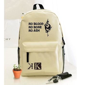 Hot Fashion Design K Project Printing Luminous Backpack Teenagers Schoolbag Suoh Mikoto Cosplay Rucksack