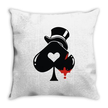 poker hat ace of spades Throw Pillow