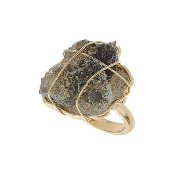 Large Rock Wrap Ring | Missselfridge