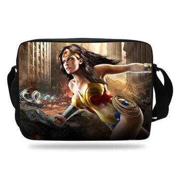 Boys bookbag trendy 2018 Cool Teenagers  Wonder woman Shoulder Bag For School Girls Messenger Bag Kids Gift Boys Travel Bag Child AT_51_3