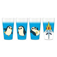 Adventure Time Ice King and Penguins Pint Glass 4-Pack - Surreal Entertainment - Adventure Time - Pint Glasses at Entertainment Earth