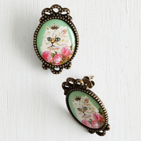Cats Don't Mew Look Cute Earrings by ModCloth