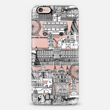 London UK toile de jouy transparent iPhone 6s case by Sharon Turner   Casetify
