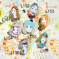 Online Shop Harajuku Brooches for women Pin up Hijab pins Women bag Scarf CC Brooch Broche Collar Tips Lapel Pin |Aliexpress Mobile