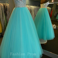 Beautiful blue prom dressevening dresslong by FashionPromDresses