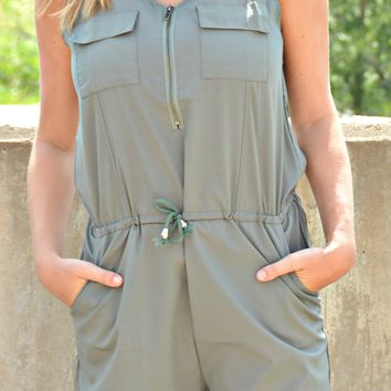 Rolling Meadows Romper - Olive