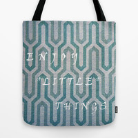 Enjoy The Little Things Tote Bag by Lucine | Society6