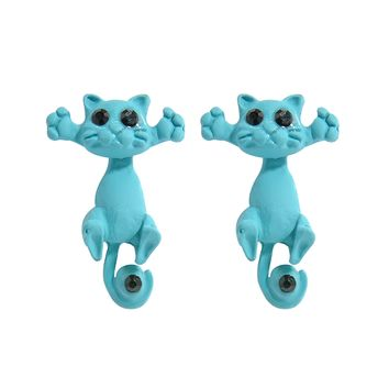 Kitten Funny Earring Multiple Color Unique Cute Cat Studs Earrings