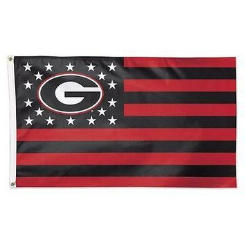 GEORGIA BULLDOGS S AND STRIPES 3'X5' DELUXE FLAG BRAND NEW WINCRAFT