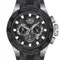 Invicta I-Force Chronograph Black Dial Black Silicone Mens Watch 16918
