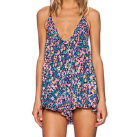 MINKPINK Rainbow Pop Playsuit in Purple