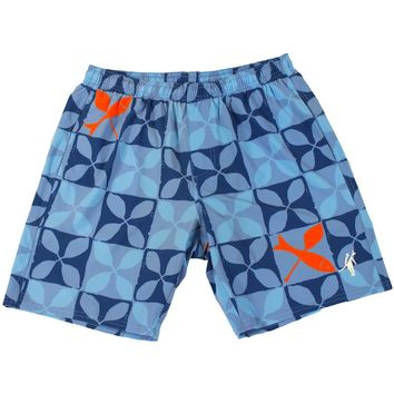 Toes on the Nose Fish & Paddle Volley Trunks Blue