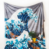 Fuji Waves Tapestry