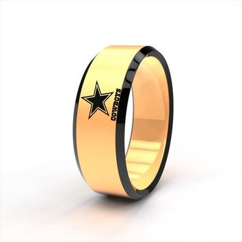 New Design Dallas Cowboys Team Ring Titanium Steel Unisex Jewelry Sport Style For Rugby Fans Gifts