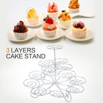 Detachable 3 Tier 13 Cupcake Stand