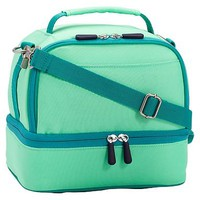 Gear-Up Mint Colorblock Dual Compartment Lunch Bag