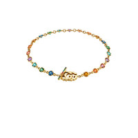 Gucci GG Running Chain Bracelet in 18KT Yellow Gold & Multicolor | FWRD