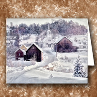 Waits River, Vermont. New England Greeting Card