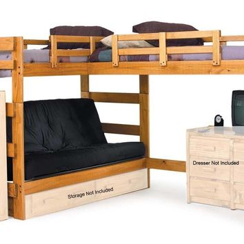 Jace L-Shaped Loft Bed with Futon