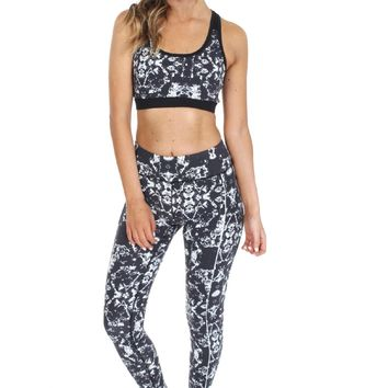 Abstract Print Workout Pants