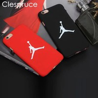 Clespruce Fashion flyman Michael Jordan PC case for Apple iphone X 8 6 6s 7 plus SE 5S back mate cover carcasa capa fundas coque