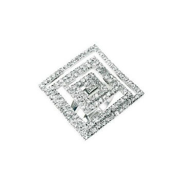 Cubic Zirconia Maze Cocktail Ring