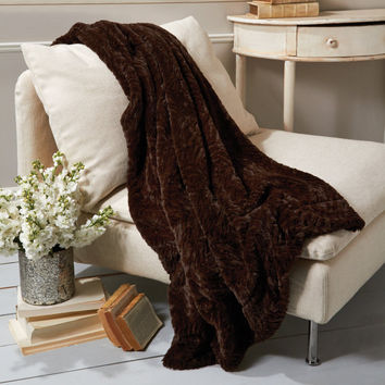 Fabulous Faux Fur - Dark Chocolate Mink Throw