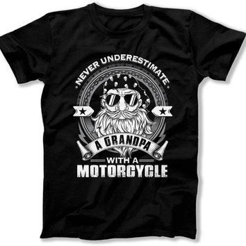 Motorcycle Gifts For Grandpa Shirt, Biker Shirt, Motorcycle T Shirt, Grandpa Gift, Grandfather Gift, Fathers Day, Mens Tee TEP-329