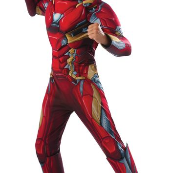 Rubies Costume Captain America Civil War Deluxe Iron Man Costume Medium