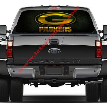 Green Bay Packers-Rear Window Decal-Graphic