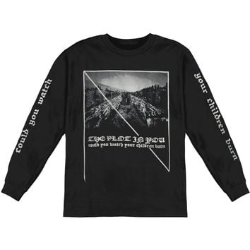 Plot In You Men's  Piles  Long Sleeve Black Rockabilia