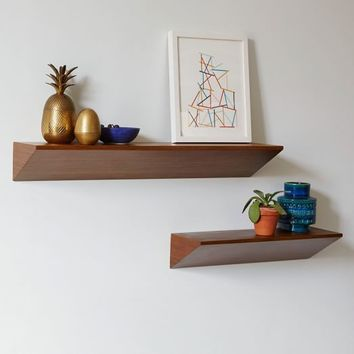 Floating Wedge Shelf - Acorn
