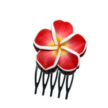 Big Plumeria Hair Comb