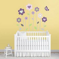 Purple Blossoms Nursery Wall Decals XL : Target