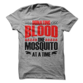 Donating Blood On Mosquito At A Time
