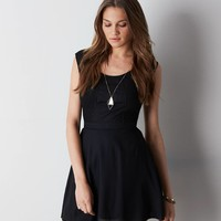 AEO Crocheted Paneled Dress, Black   American Eagle Outfitters
