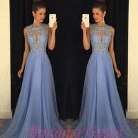Modest Open Backs Prom Dresses A Line Backless Chiffon Long Modest Lace Evening Gowns