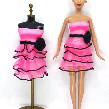 NK 2016 Newest Doll Dress Beautiful Handmade Party ClothesTop Fashion Dress For Barbie Noble Doll Best Child Girls'Gift 005A