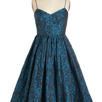 Tracy Reese Spaghetti Straps Fit & Flare Tracy Reese True Blue Elegance Dress