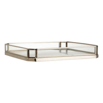 H&M Metal Tray with Glass Sides $29.99